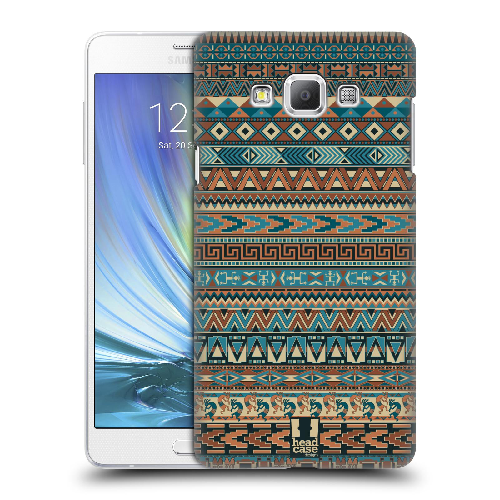 HEAD CASE plastový obal na mobil SAMSUNG GALAXY A7 vzor Indiánský vzor MODRÁ