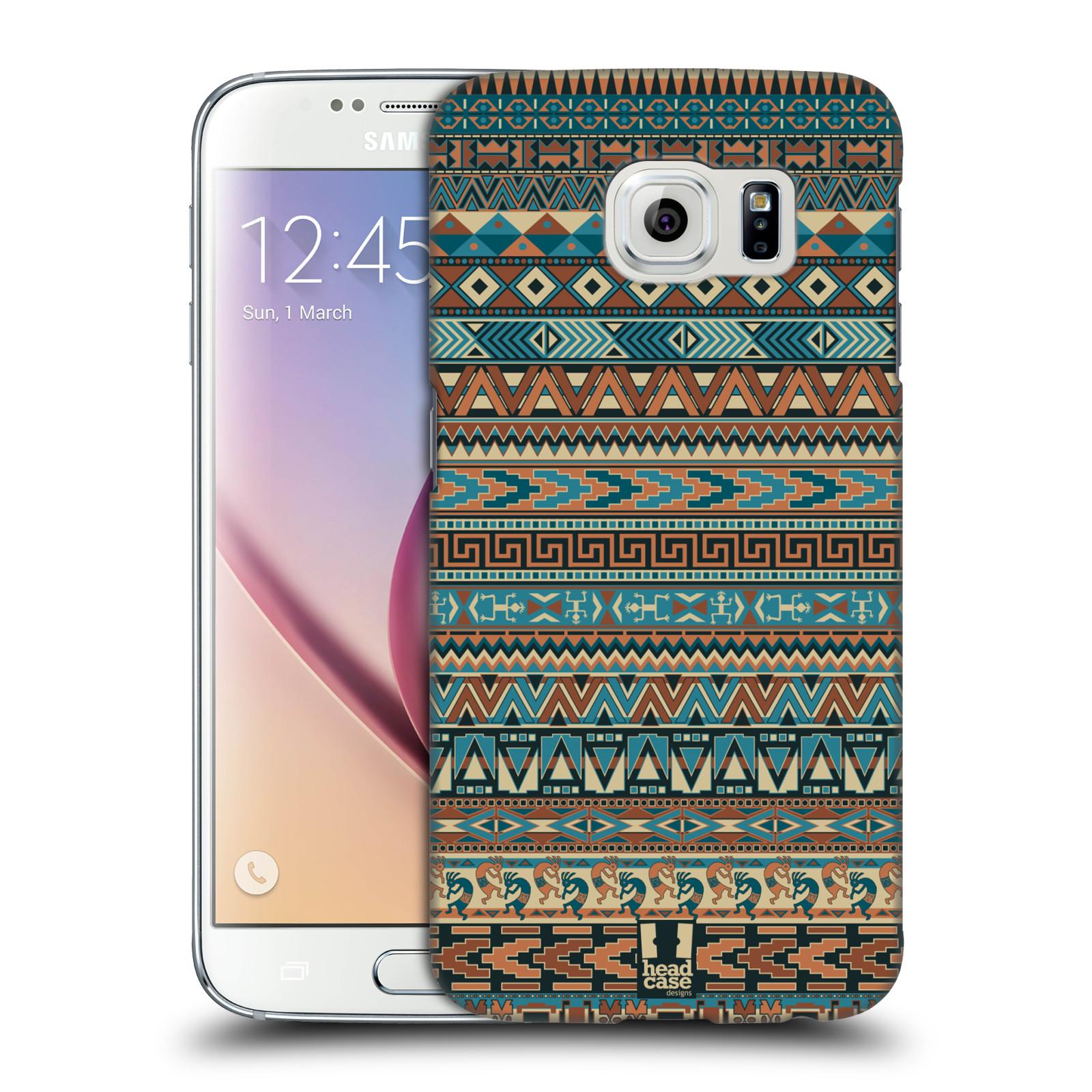 HEAD CASE plastový obal na mobil SAMSUNG Galaxy S6 (G9200, G920F) vzor Indiánský vzor MODRÁ