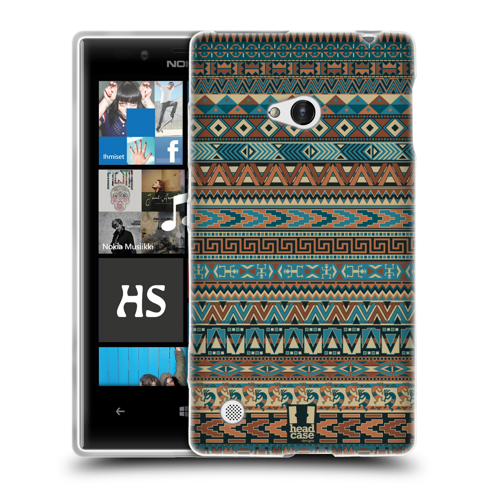 HEAD CASE AMERINDIAN PATTERNS TPU GEL BACK CASE COVER FOR NOKIA LUMIA 720