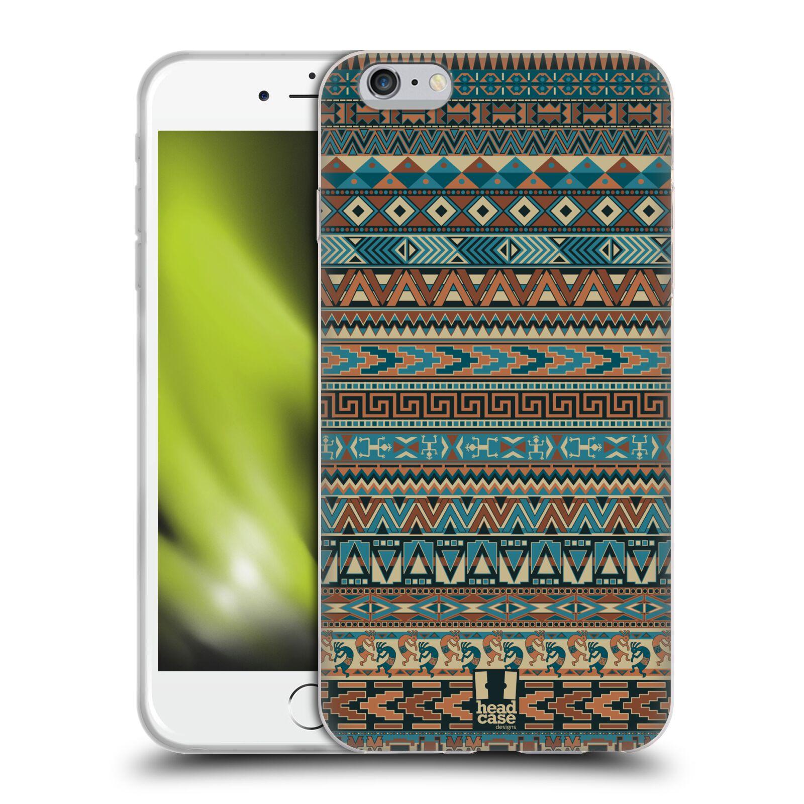 HEAD CASE silikonový obal na mobil Apple Iphone 6 PLUS/ 6S PLUS vzor Indiánský vzor MODRÁ
