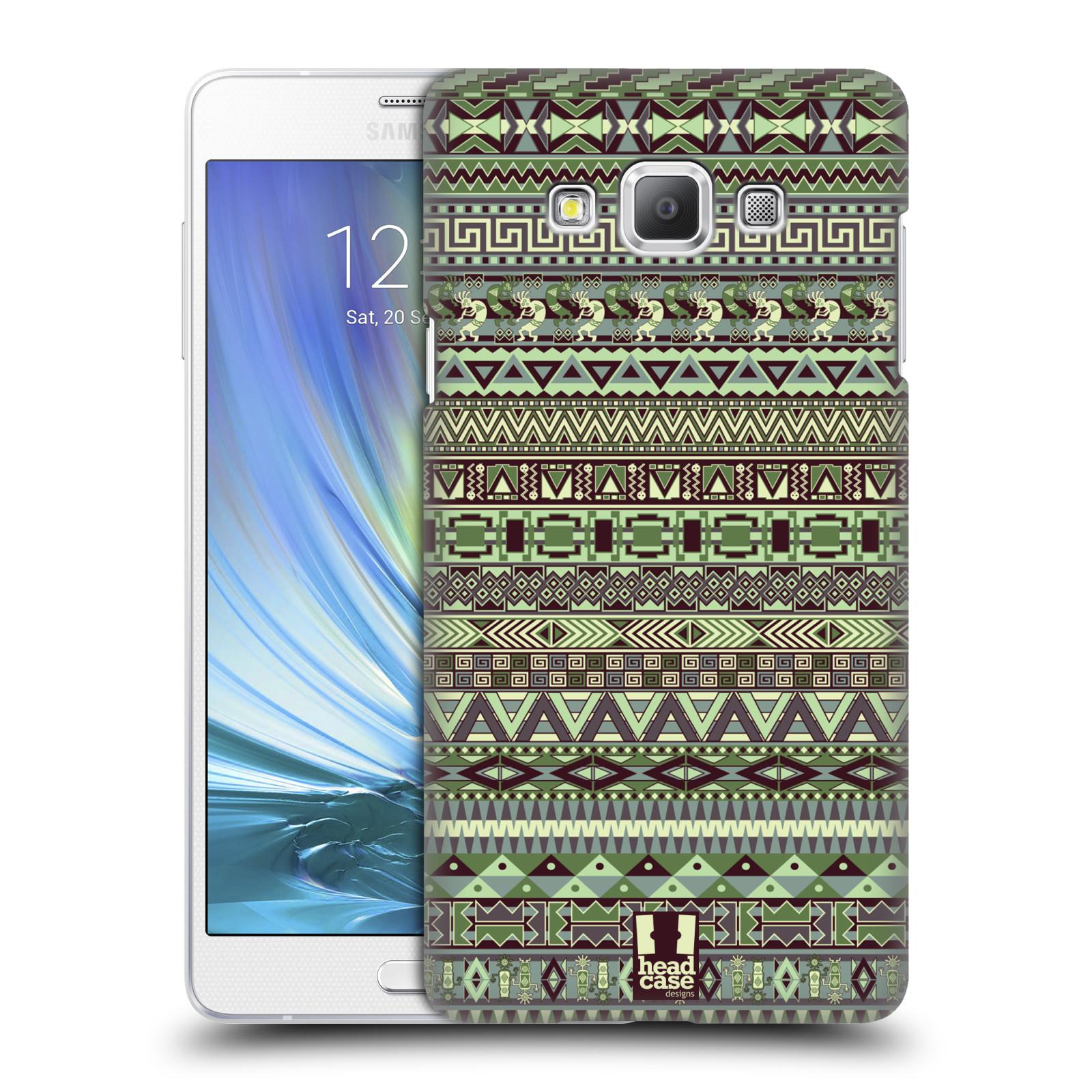 HEAD CASE plastový obal na mobil SAMSUNG GALAXY A7 vzor Indiánský vzor ZELENÁ