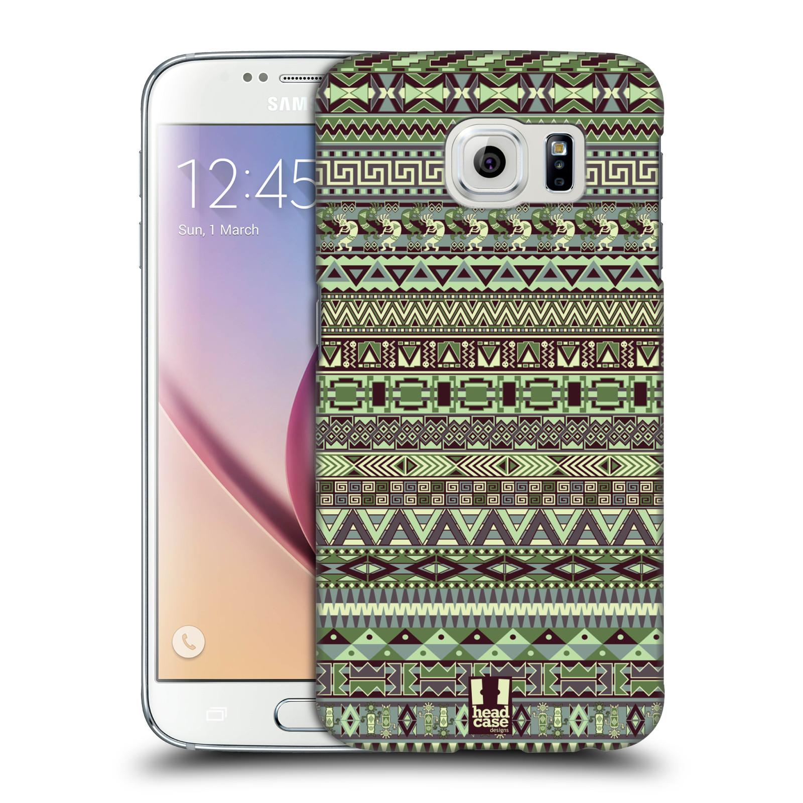 HEAD CASE plastový obal na mobil SAMSUNG Galaxy S6 (G9200, G920F) vzor Indiánský vzor ZELENÁ