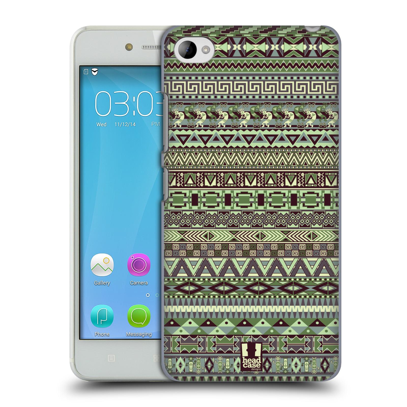HEAD CASE pevný plastový obal na mobil LENOVO S90 vzor Indiánský vzor ZELENÁ