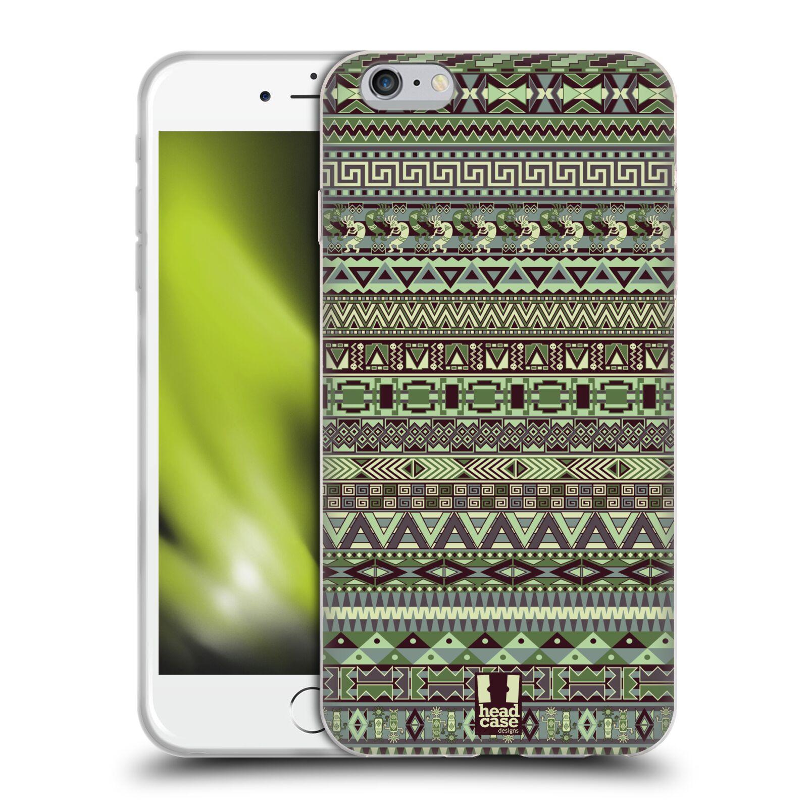 HEAD CASE silikonový obal na mobil Apple Iphone 6 PLUS/ 6S PLUS vzor Indiánský vzor ZELENÁ