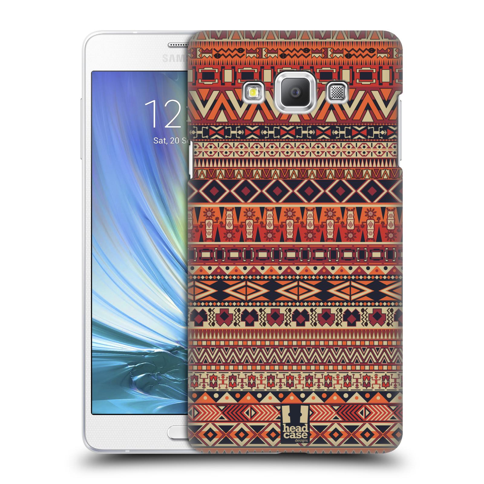 HEAD CASE plastový obal na mobil SAMSUNG GALAXY A7 vzor Indiánský vzor ČERVENÁ
