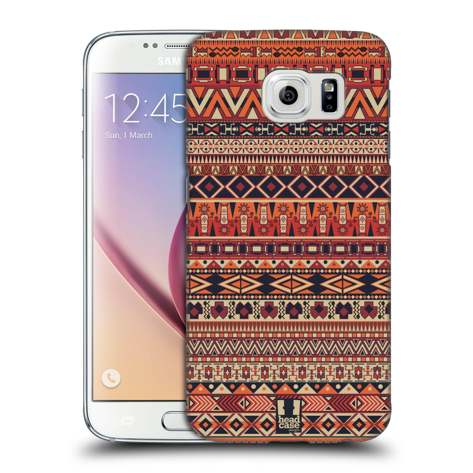 HEAD CASE plastový obal na mobil SAMSUNG Galaxy S6 (G9200, G920F) vzor Indiánský vzor ČERVENÁ