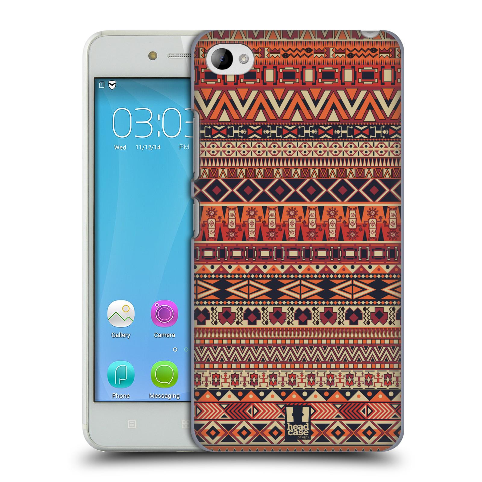 HEAD CASE pevný plastový obal na mobil LENOVO S90 vzor Indiánský vzor ČERVENÁ