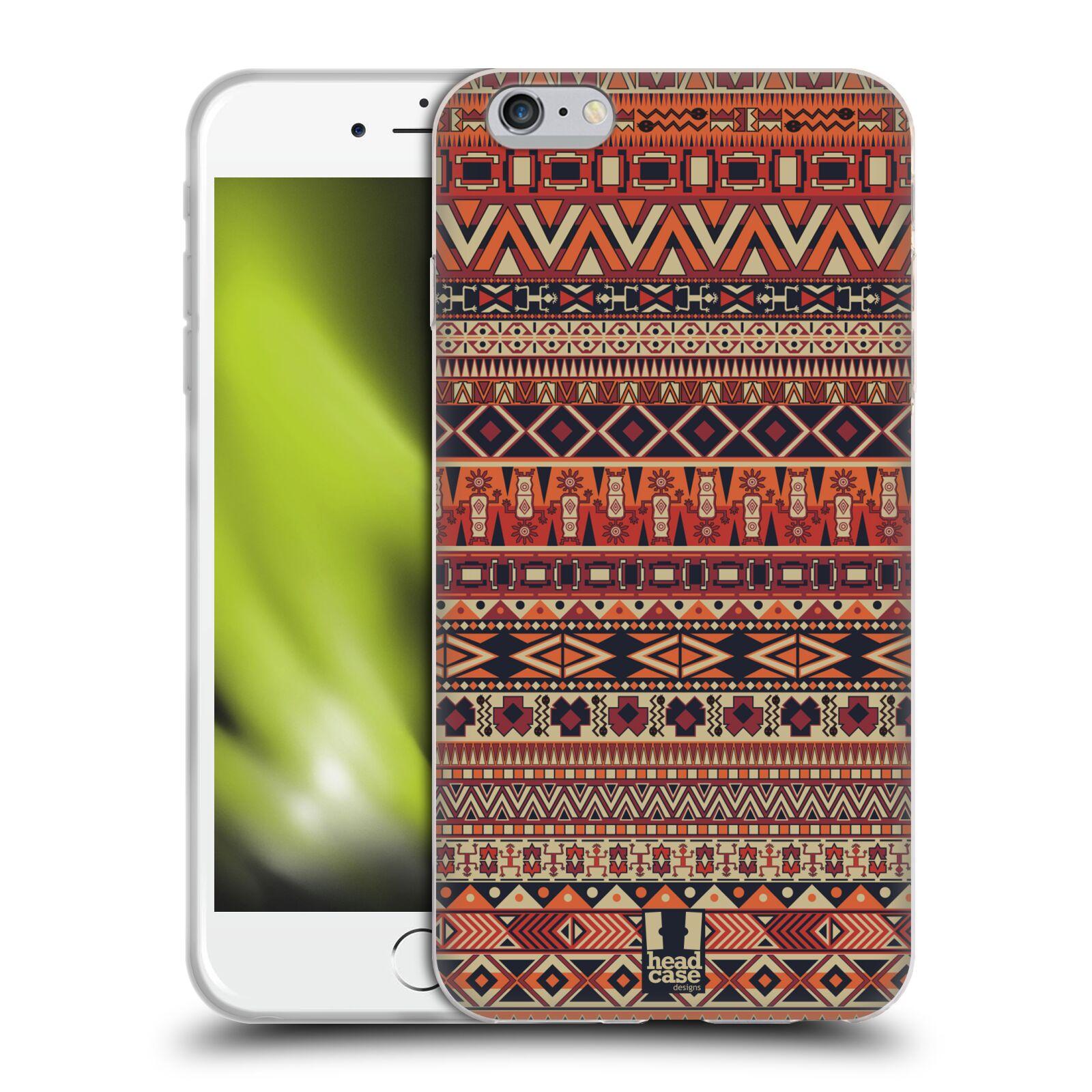 HEAD CASE silikonový obal na mobil Apple Iphone 6 PLUS/ 6S PLUS vzor Indiánský vzor ČERVENÁ