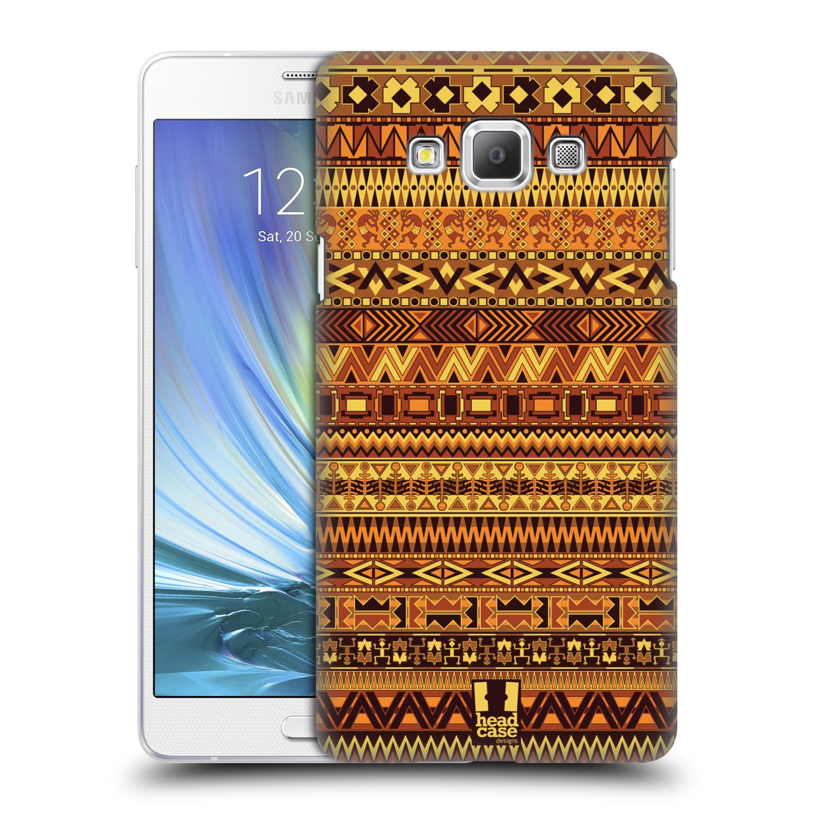 HEAD CASE plastový obal na mobil SAMSUNG GALAXY A7 vzor Indiánský vzor ŽLUTÁ