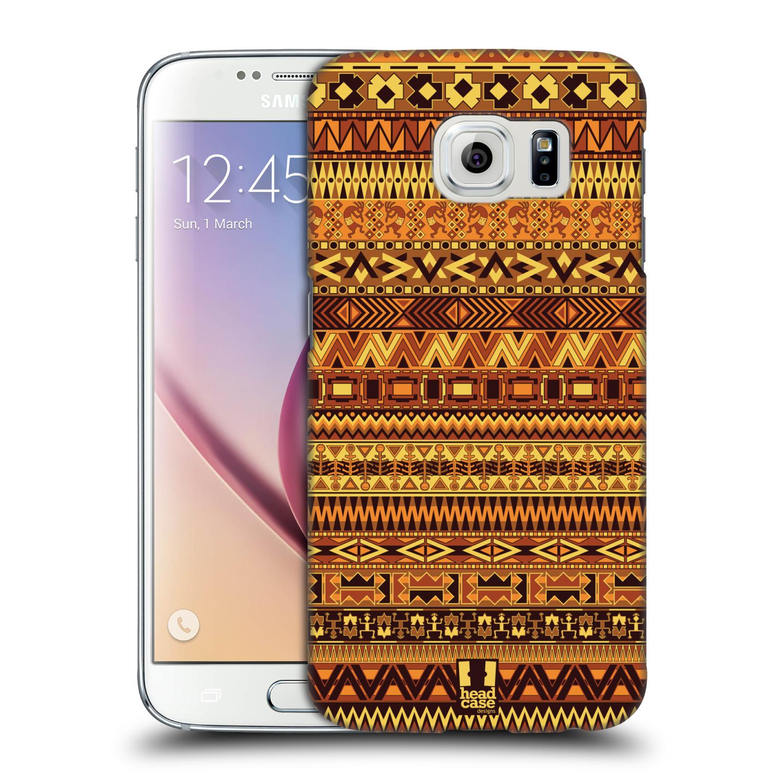 HEAD CASE plastový obal na mobil SAMSUNG Galaxy S6 (G9200, G920F) vzor Indiánský vzor ŽLUTÁ