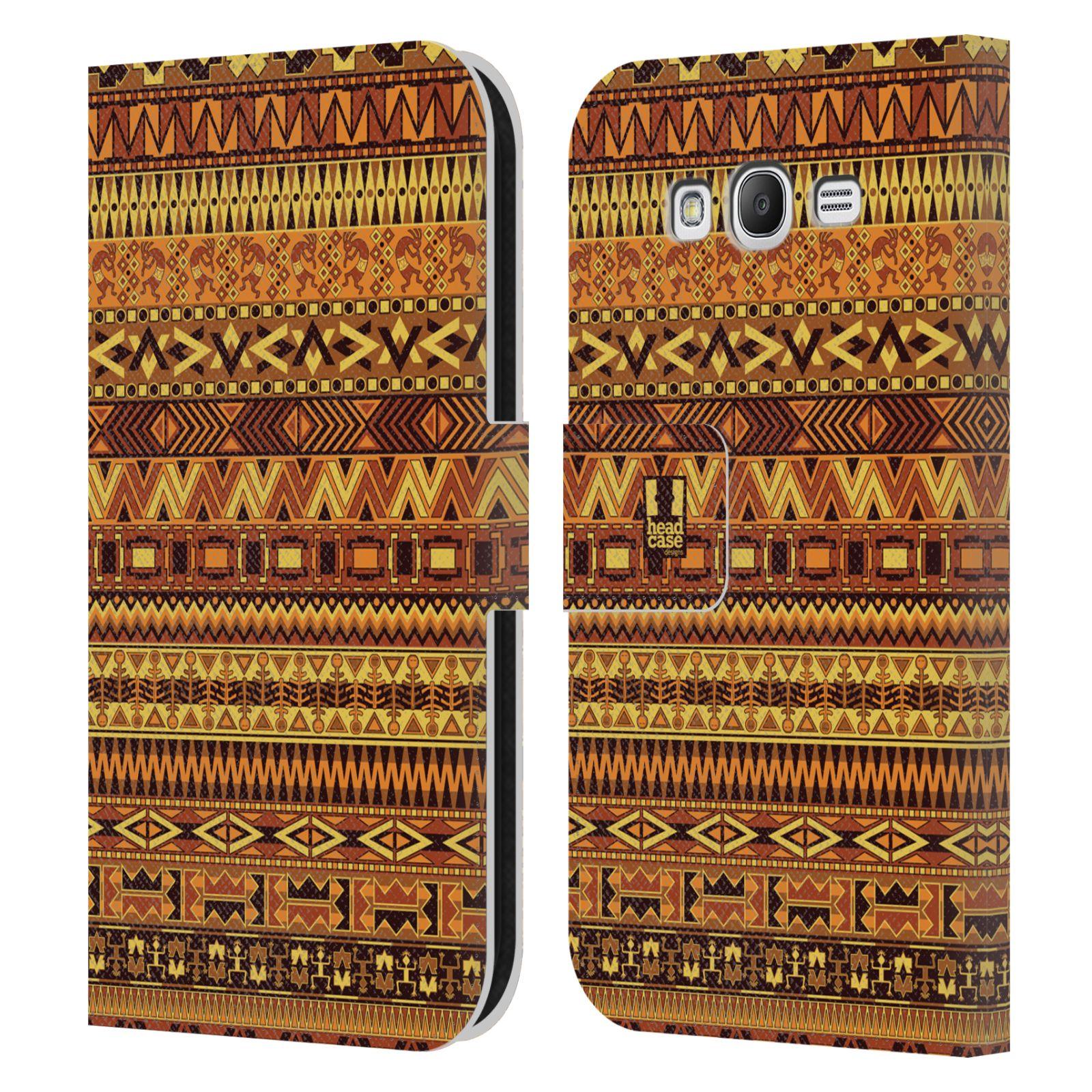 HEAD CASE Flipové pouzdro pro mobil Samsung Galaxy Grand i9080 Indiánský vzor YELLOW žlutá