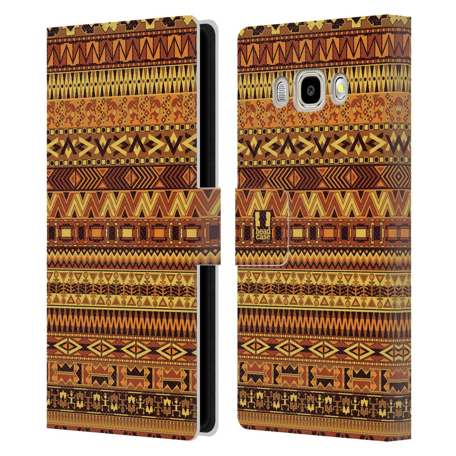 HEAD CASE Flipové pouzdro pro mobil Samsung Galaxy J5 2016 Indiánský vzor YELLOW žlutá