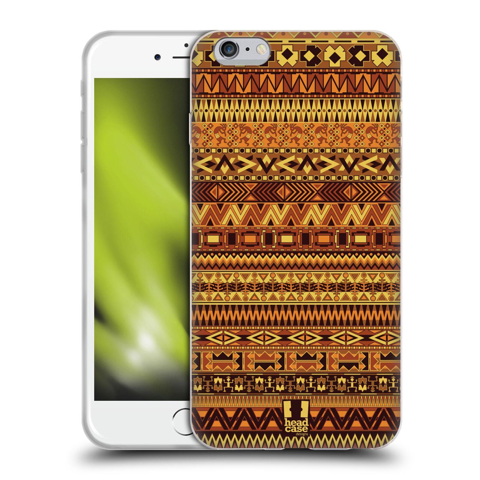 HEAD CASE silikonový obal na mobil Apple Iphone 6 PLUS/ 6S PLUS vzor Indiánský vzor ŽLUTÁ