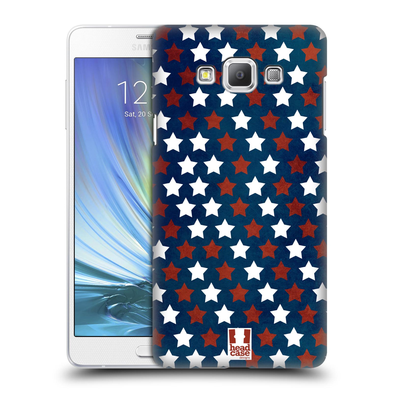 HEAD CASE plastový obal na mobil SAMSUNG GALAXY A7 vzor USA VLAJKA HVĚZDY V MODRÉM