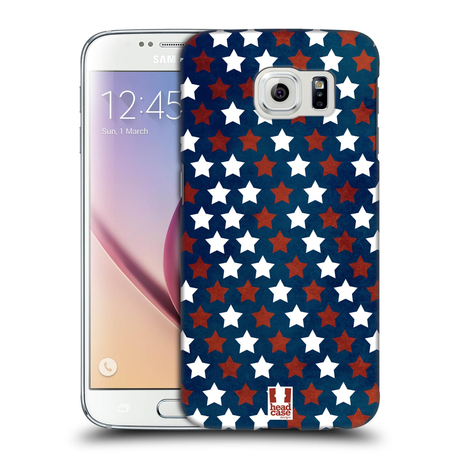 HEAD CASE plastový obal na mobil SAMSUNG Galaxy S6 (G9200, G920F) vzor USA VLAJKA HVĚZDY V MODRÉM