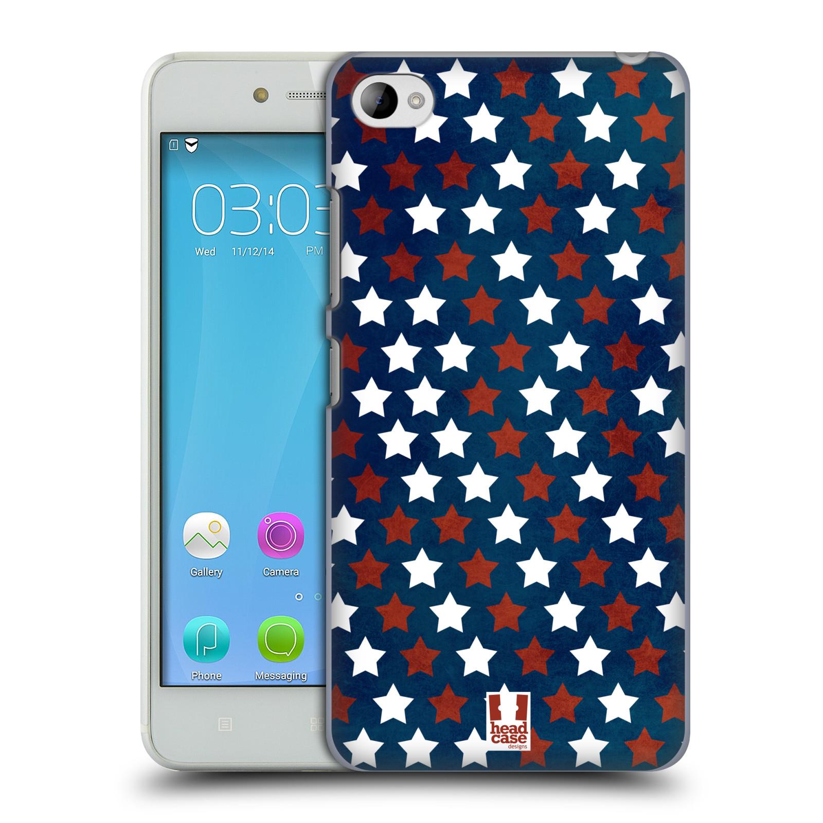 HEAD CASE pevný plastový obal na mobil LENOVO S90 vzor USA VLAJKA HVĚZDY V MODRÉM