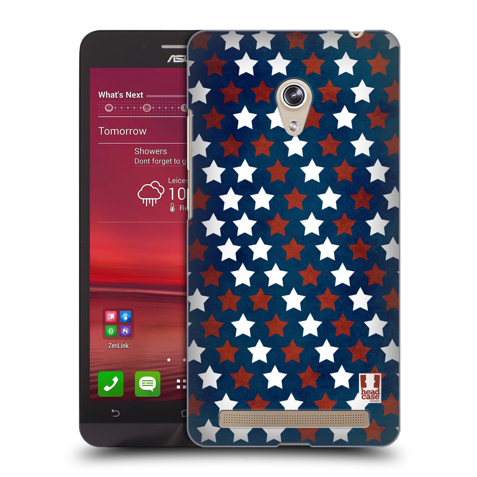HEAD CASE plastový obal na mobil Asus Zenfone 6 vzor USA VLAJKA HVĚZDY V MODRÉM