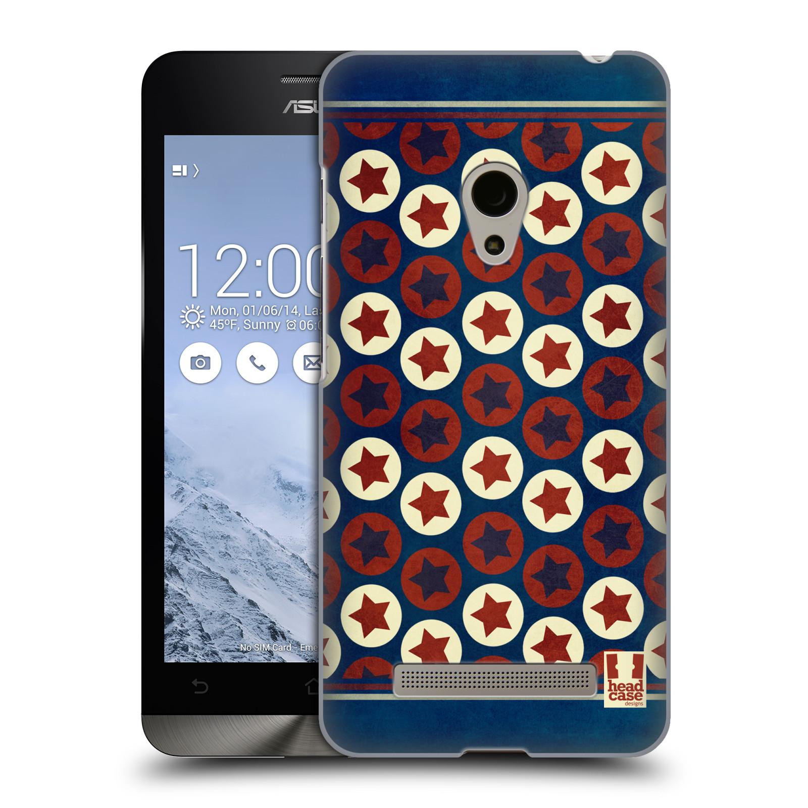 HEAD CASE plastový obal na mobil Asus Zenfone 5 vzor USA VLAJKA KRUHY A HVĚZDY