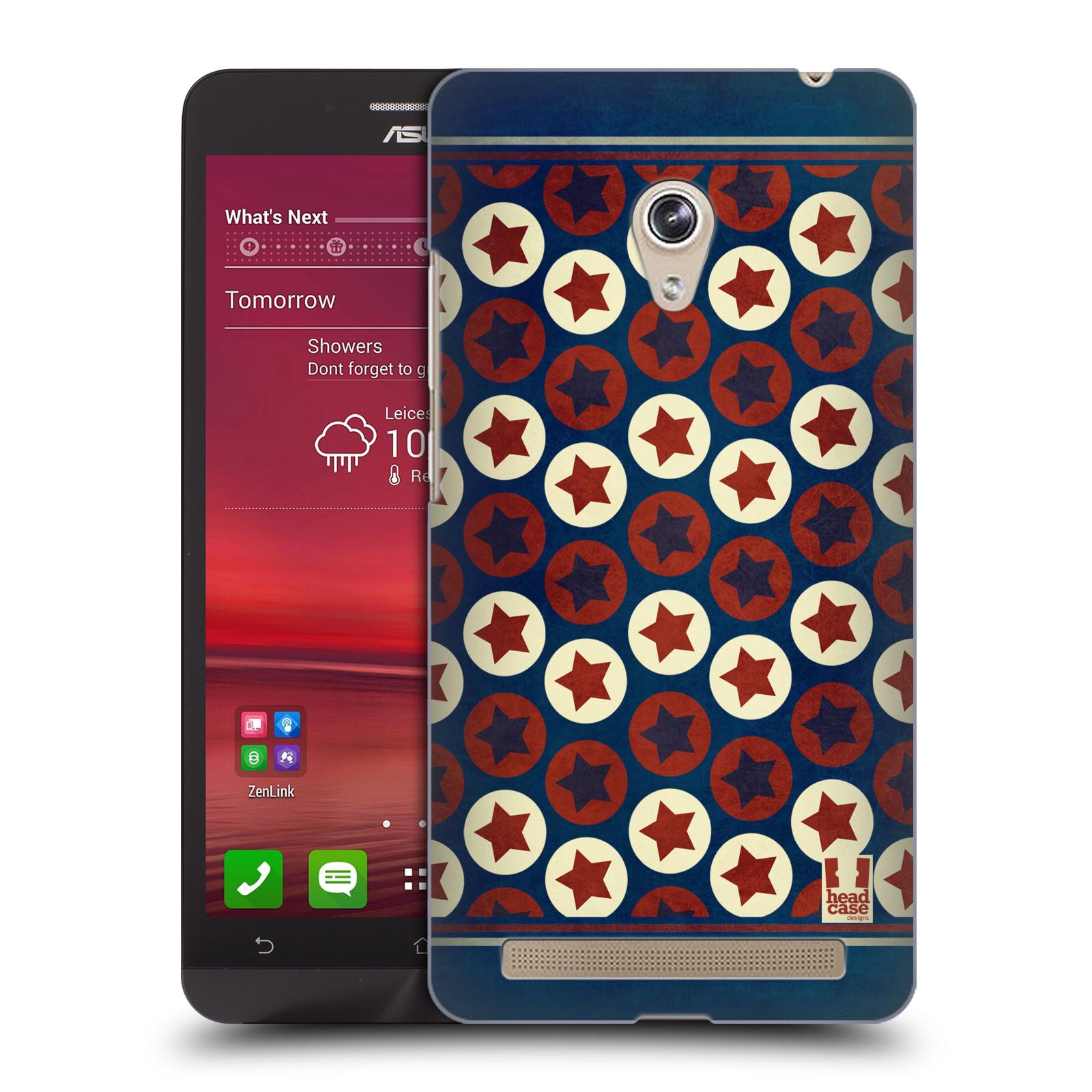HEAD CASE plastový obal na mobil Asus Zenfone 6 vzor USA VLAJKA KRUHY A HVĚZDY