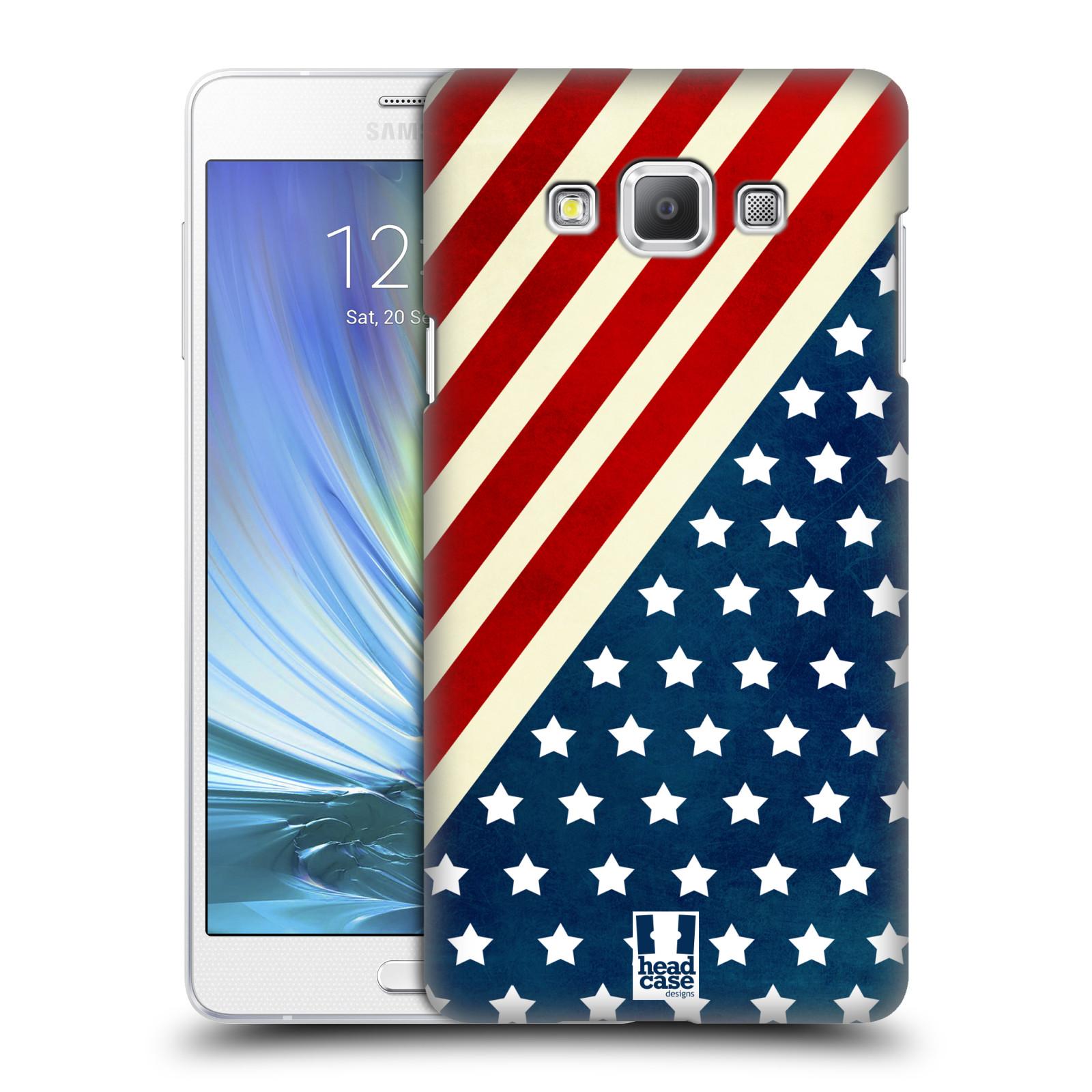 HEAD CASE plastový obal na mobil SAMSUNG GALAXY A7 vzor USA VLAJKA DIAGONÁLA
