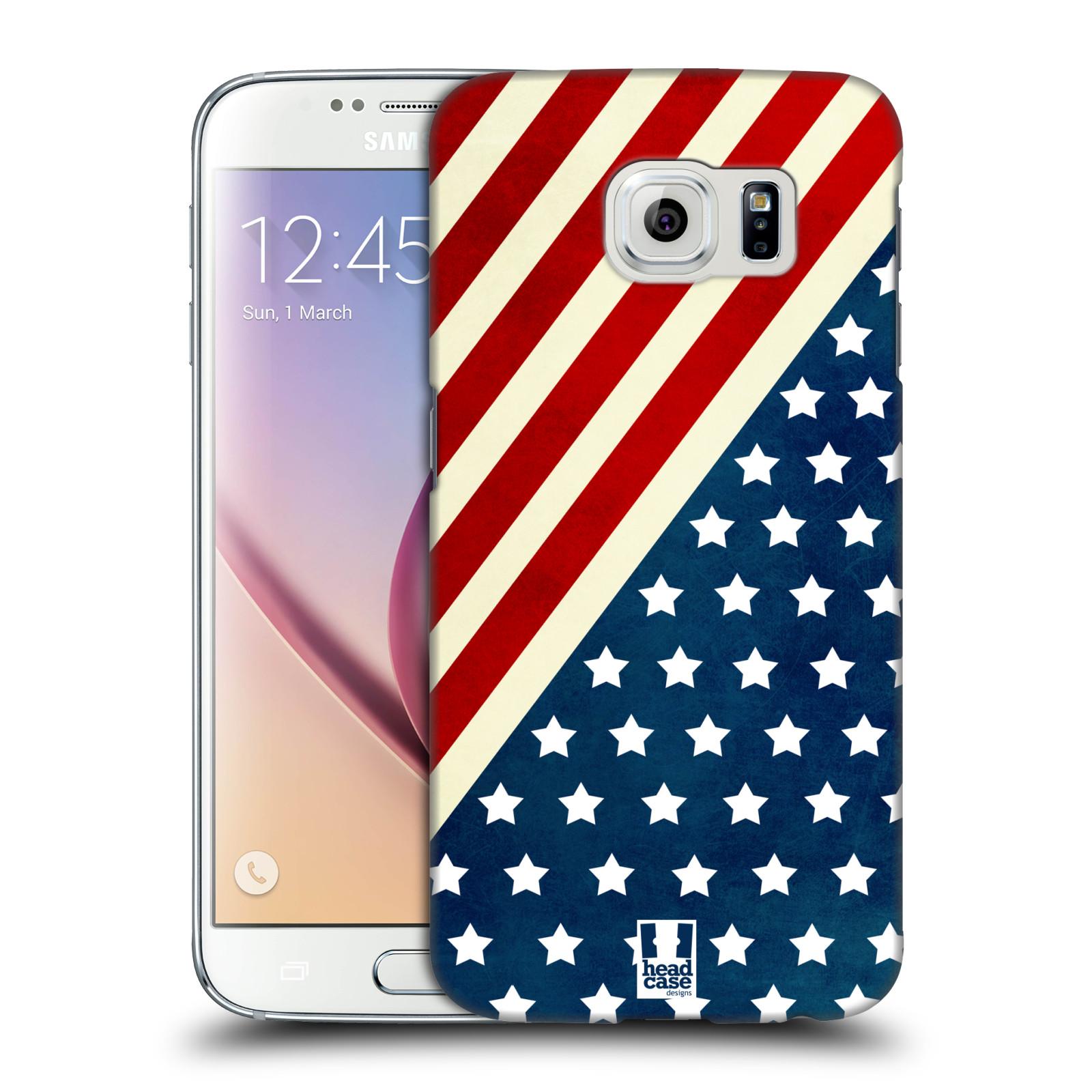 HEAD CASE plastový obal na mobil SAMSUNG Galaxy S6 (G9200, G920F) vzor USA VLAJKA DIAGONÁLA