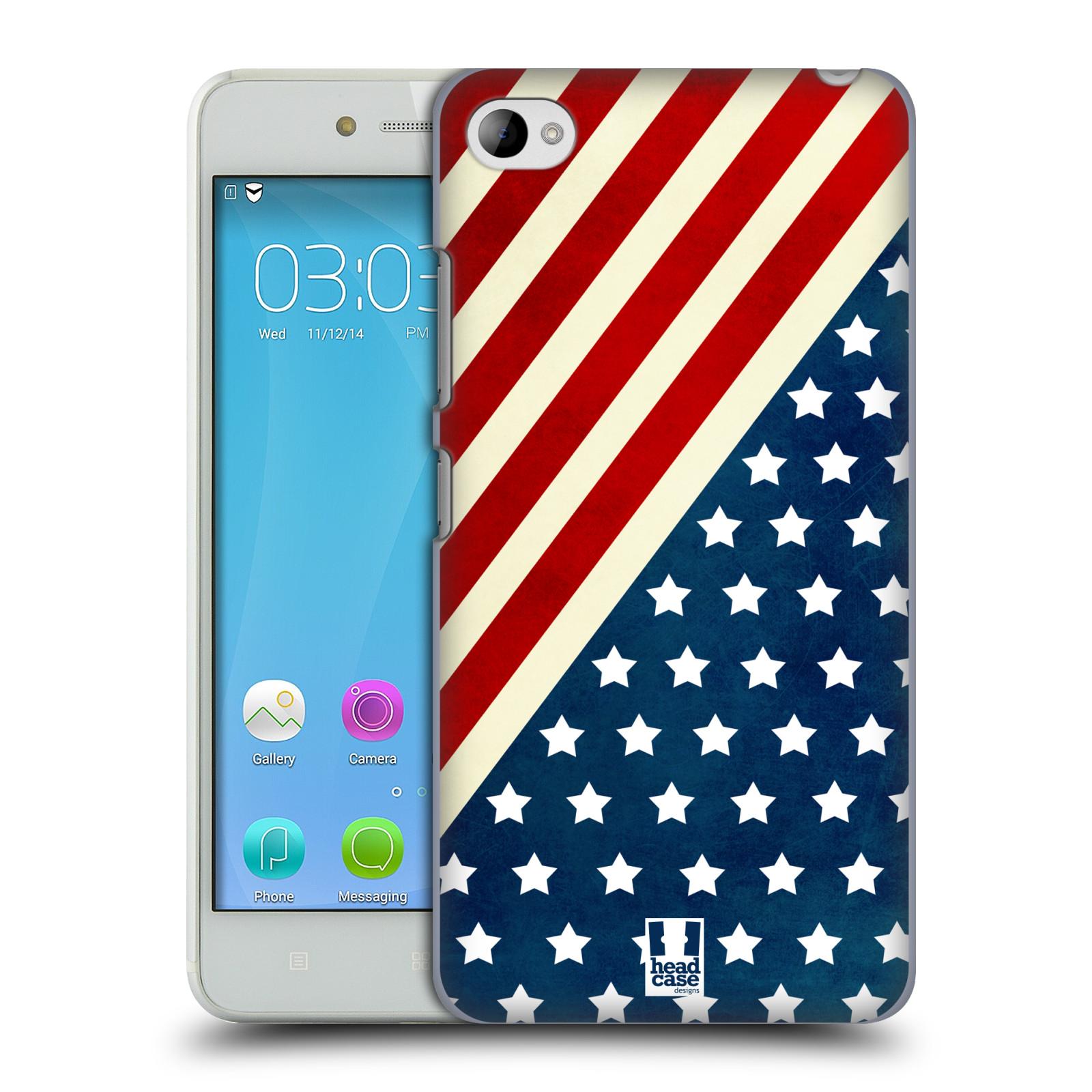 HEAD CASE pevný plastový obal na mobil LENOVO S90 vzor USA VLAJKA DIAGONÁLA