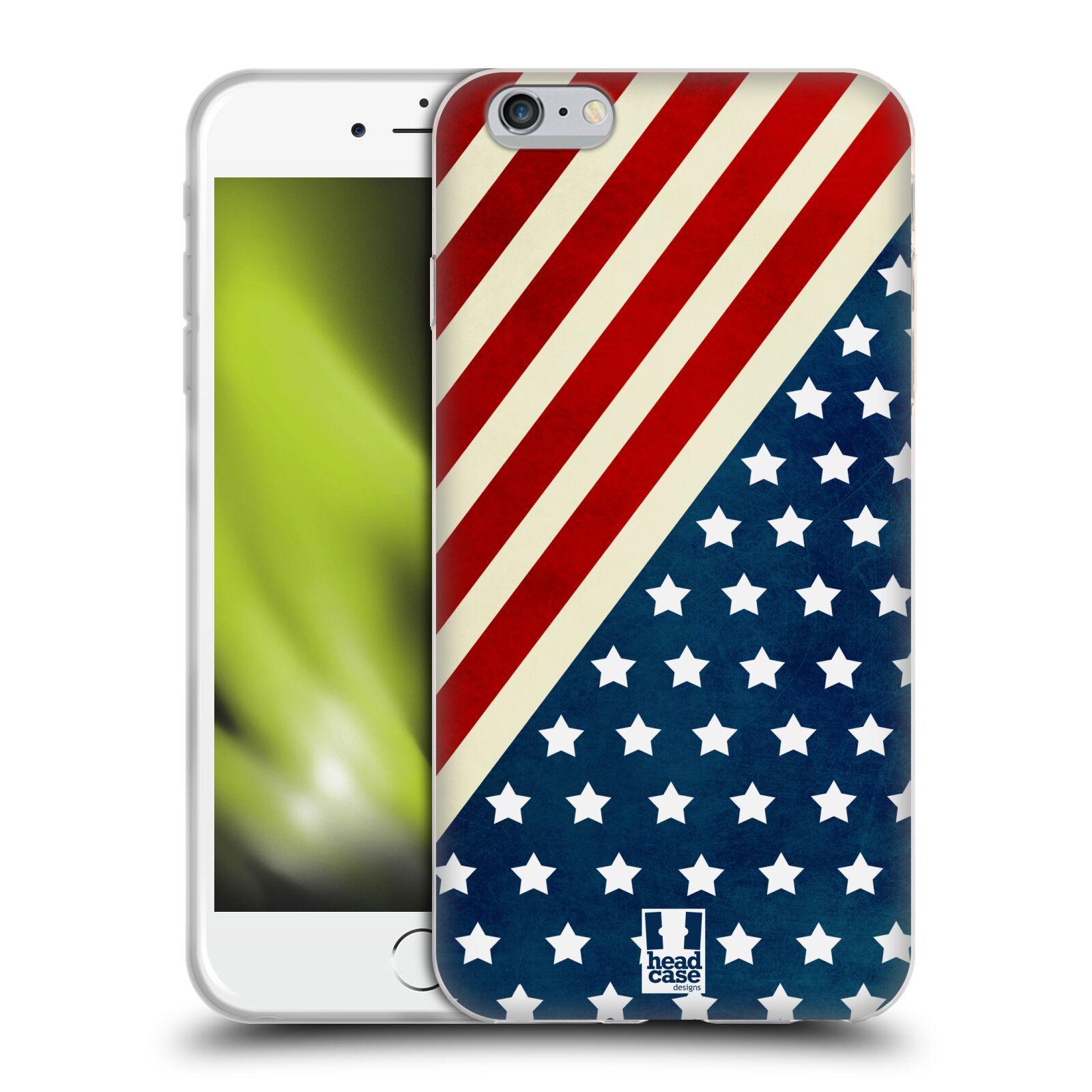 HEAD CASE silikonový obal na mobil Apple Iphone 6 PLUS/ 6S PLUS vzor USA VLAJKA DIAGONÁLA