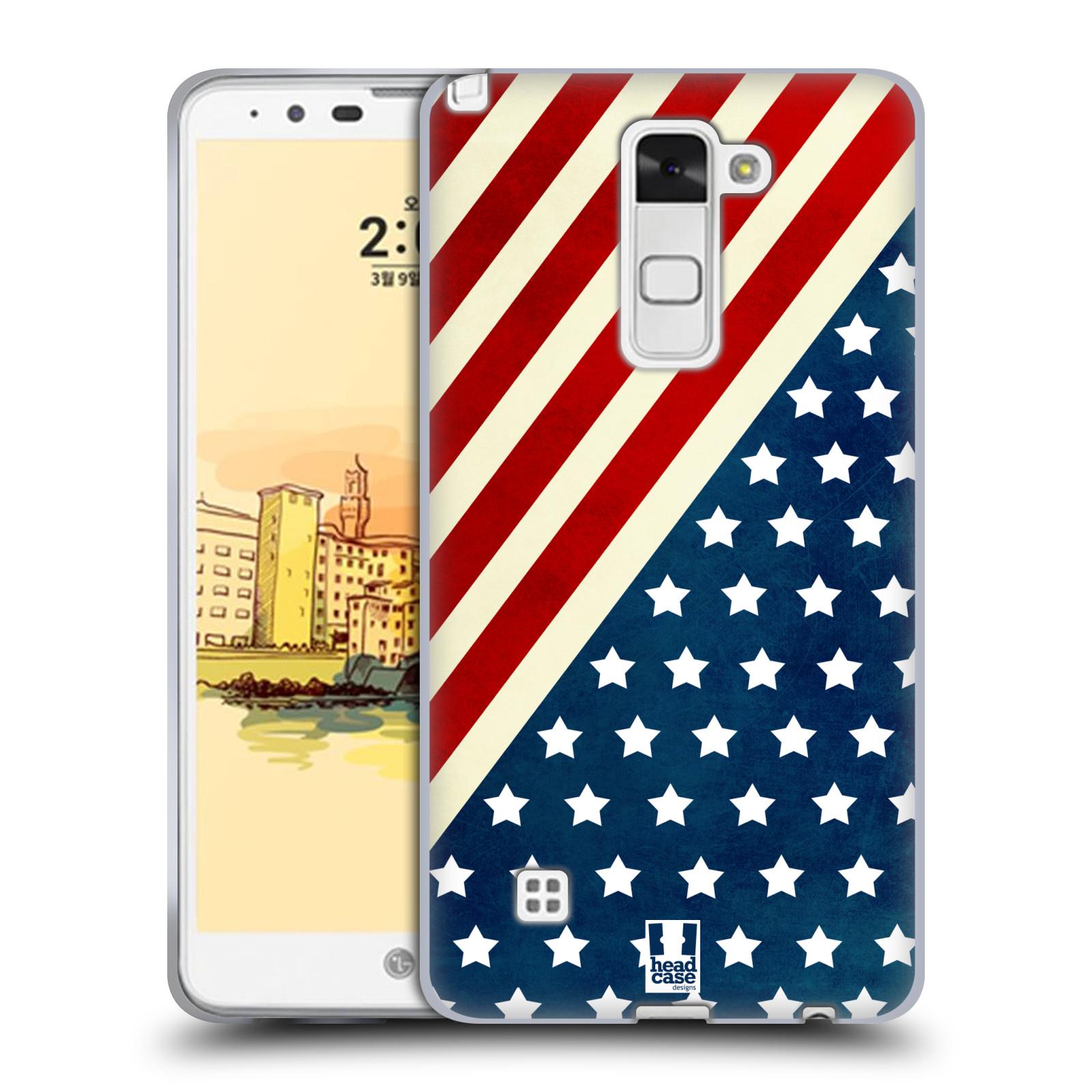 HEAD CASE silikonový obal na mobil LG Stylus 2 (K520) vzor USA VLAJKA DIAGONÁLA