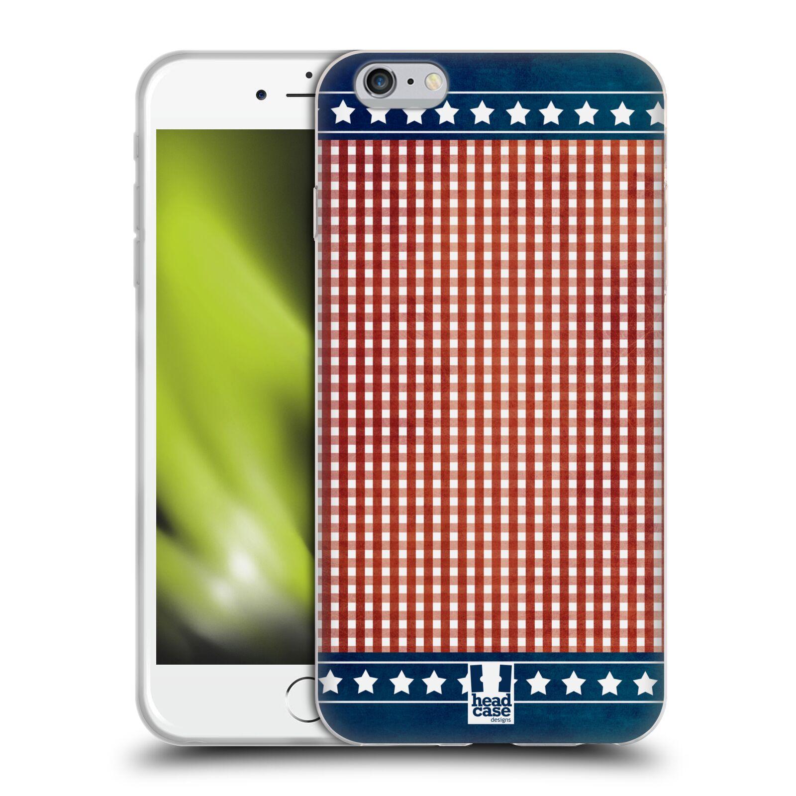 HEAD CASE silikonový obal na mobil Apple Iphone 6 PLUS/ 6S PLUS vzor USA VLAJKA ODĚV