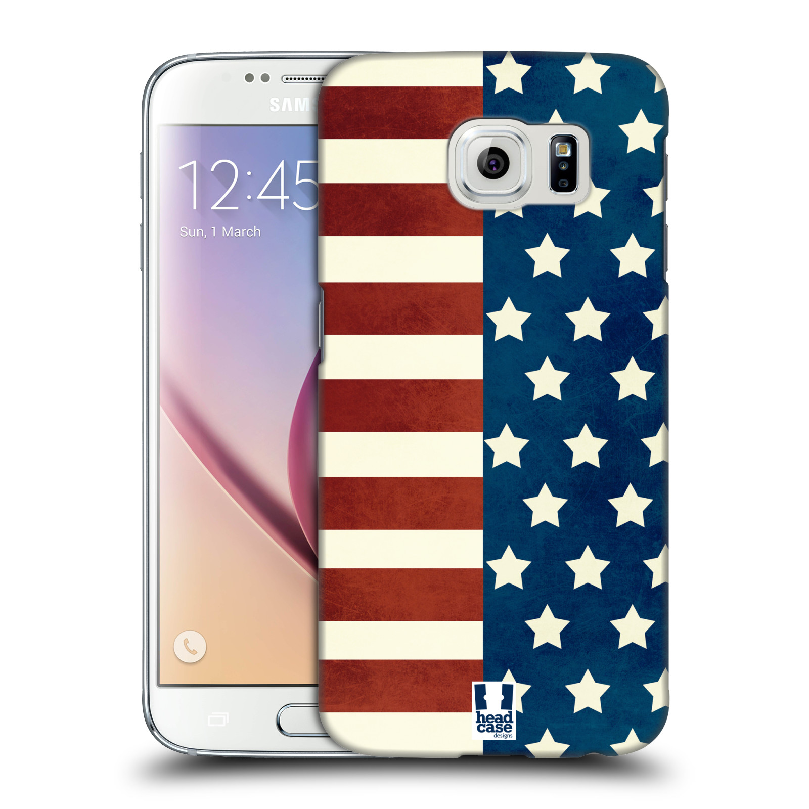 HEAD CASE plastový obal na mobil SAMSUNG Galaxy S6 (G9200, G920F) vzor USA VLAJKA HVĚZDY A PRUHY