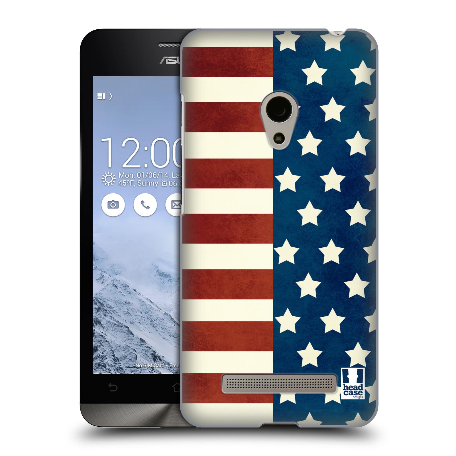 HEAD CASE plastový obal na mobil Asus Zenfone 5 vzor USA VLAJKA HVĚZDY A PRUHY