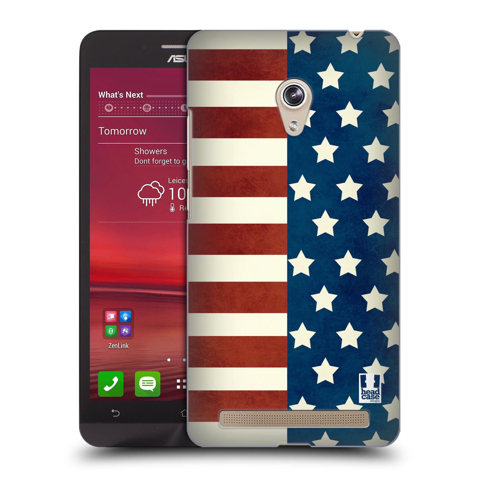 HEAD CASE plastový obal na mobil Asus Zenfone 6 vzor USA VLAJKA HVĚZDY A PRUHY