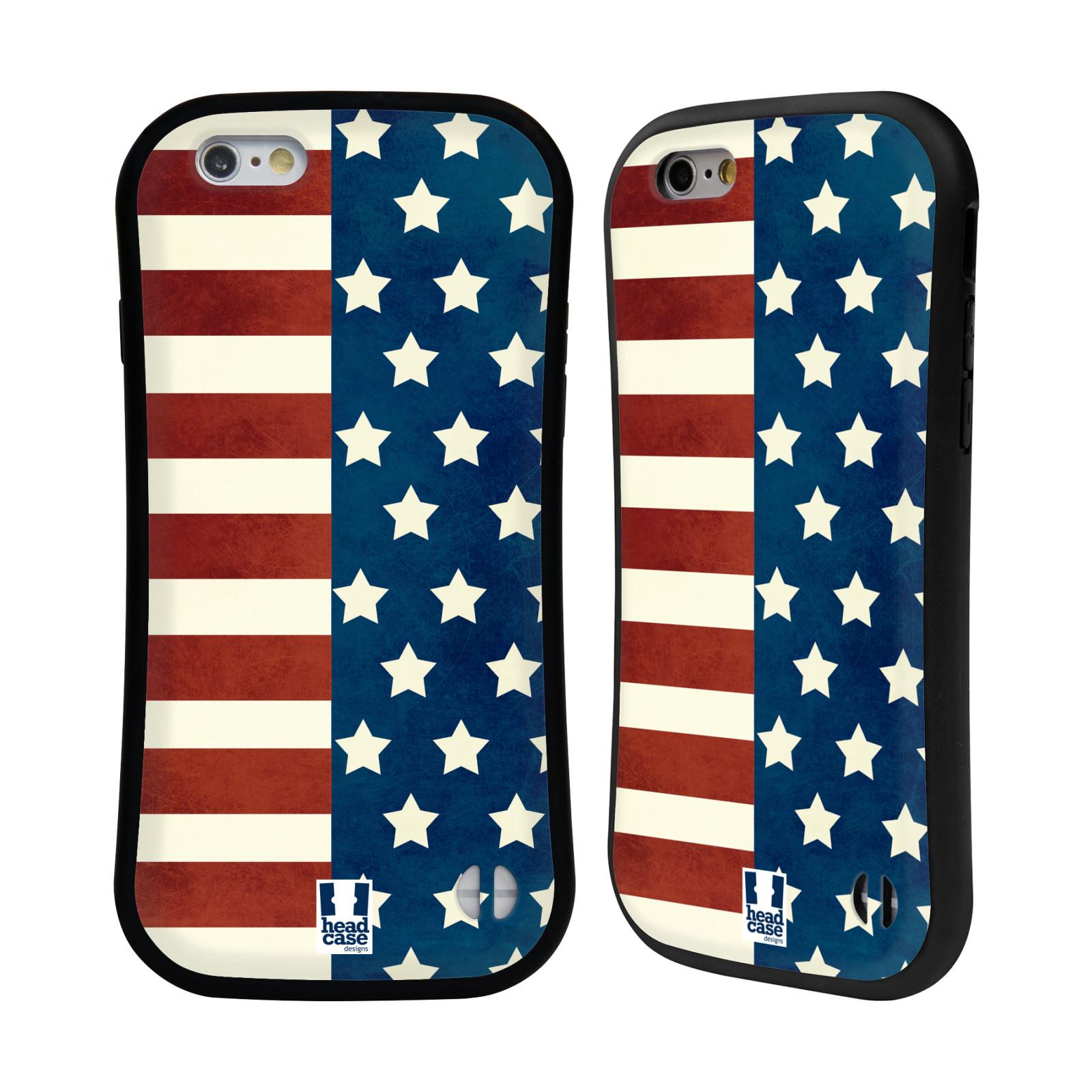 HEAD CASE silikon plast odolný obal na mobil Apple Iphone 6 6S vzor USA  empty 769c46c5e98