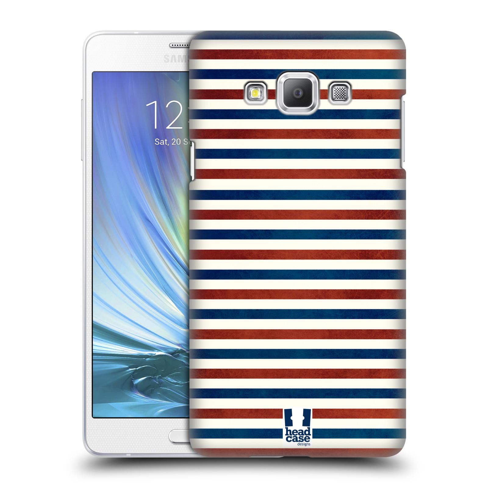 HEAD CASE plastový obal na mobil SAMSUNG GALAXY A7 vzor USA VLAJKA ČERVENÉ A MODRÉ PROUŽKY