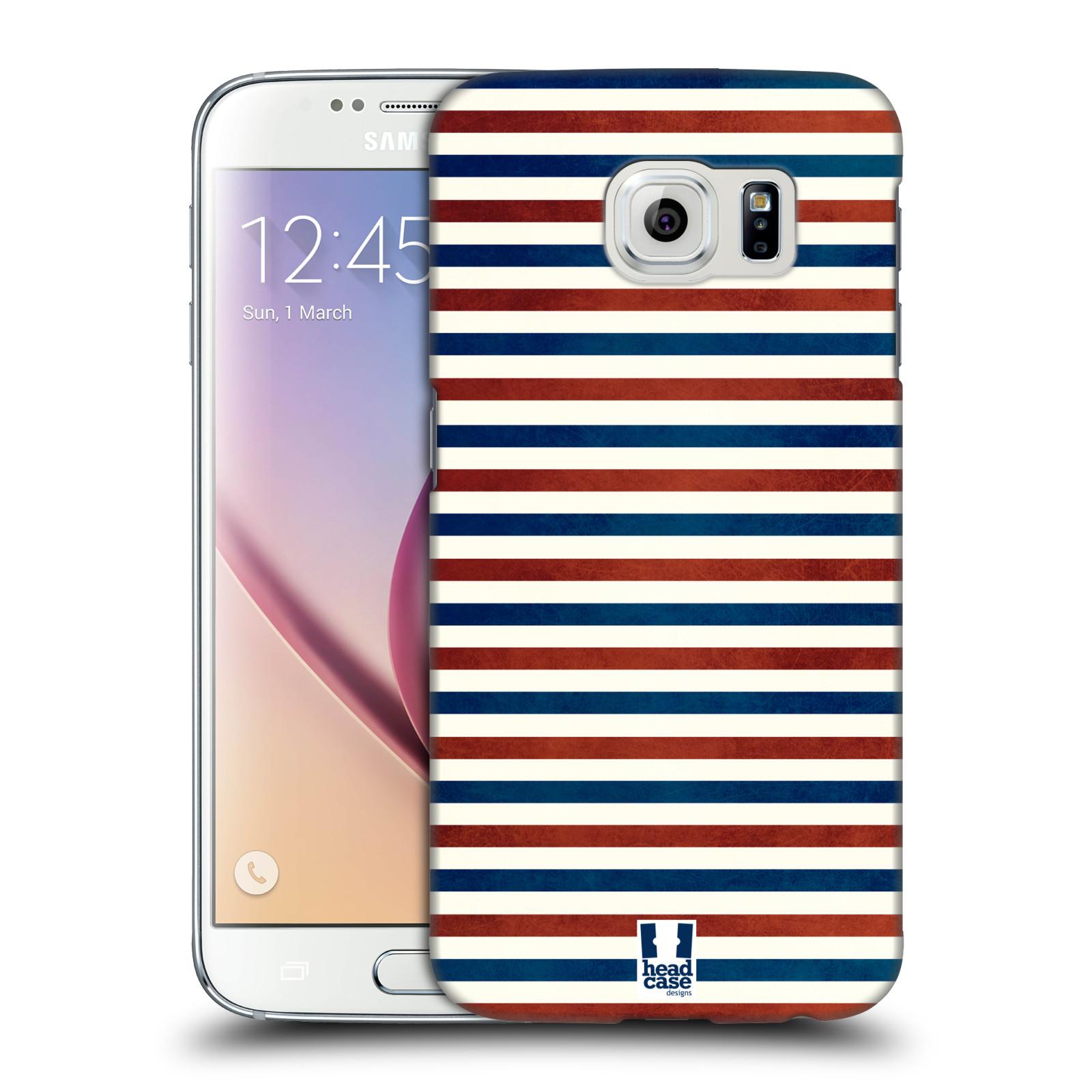 HEAD CASE plastový obal na mobil SAMSUNG Galaxy S6 (G9200, G920F) vzor USA VLAJKA ČERVENÉ A MODRÉ PROUŽKY