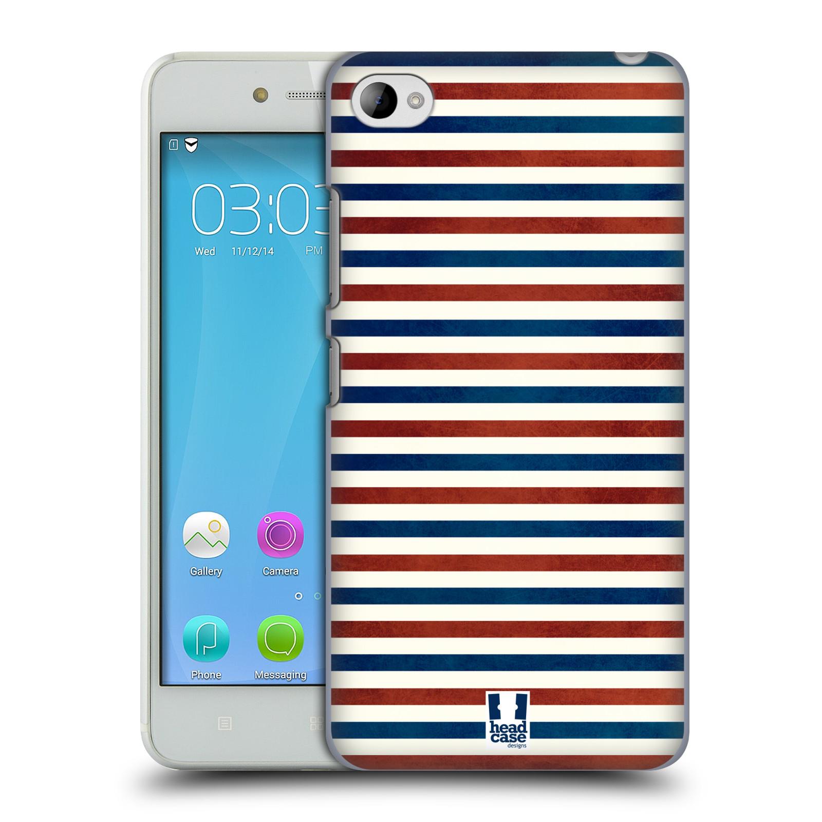 HEAD CASE pevný plastový obal na mobil LENOVO S90 vzor USA VLAJKA ČERVENÉ A MODRÉ PROUŽKY