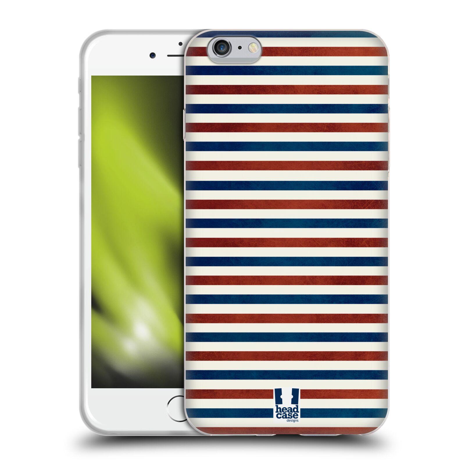 HEAD CASE silikonový obal na mobil Apple Iphone 6 PLUS/ 6S PLUS vzor USA VLAJKA ČERVENÉ A MODRÉ PROUŽKY