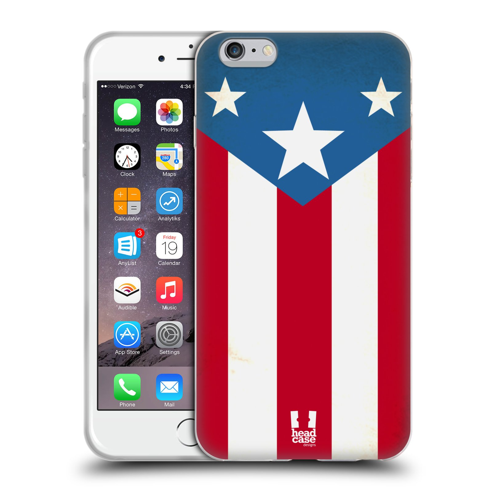 HEAD CASE silikonový obal na mobil Apple Iphone 6 PLUS/ 6S PLUS vzor Americká pýcha VLAJKA
