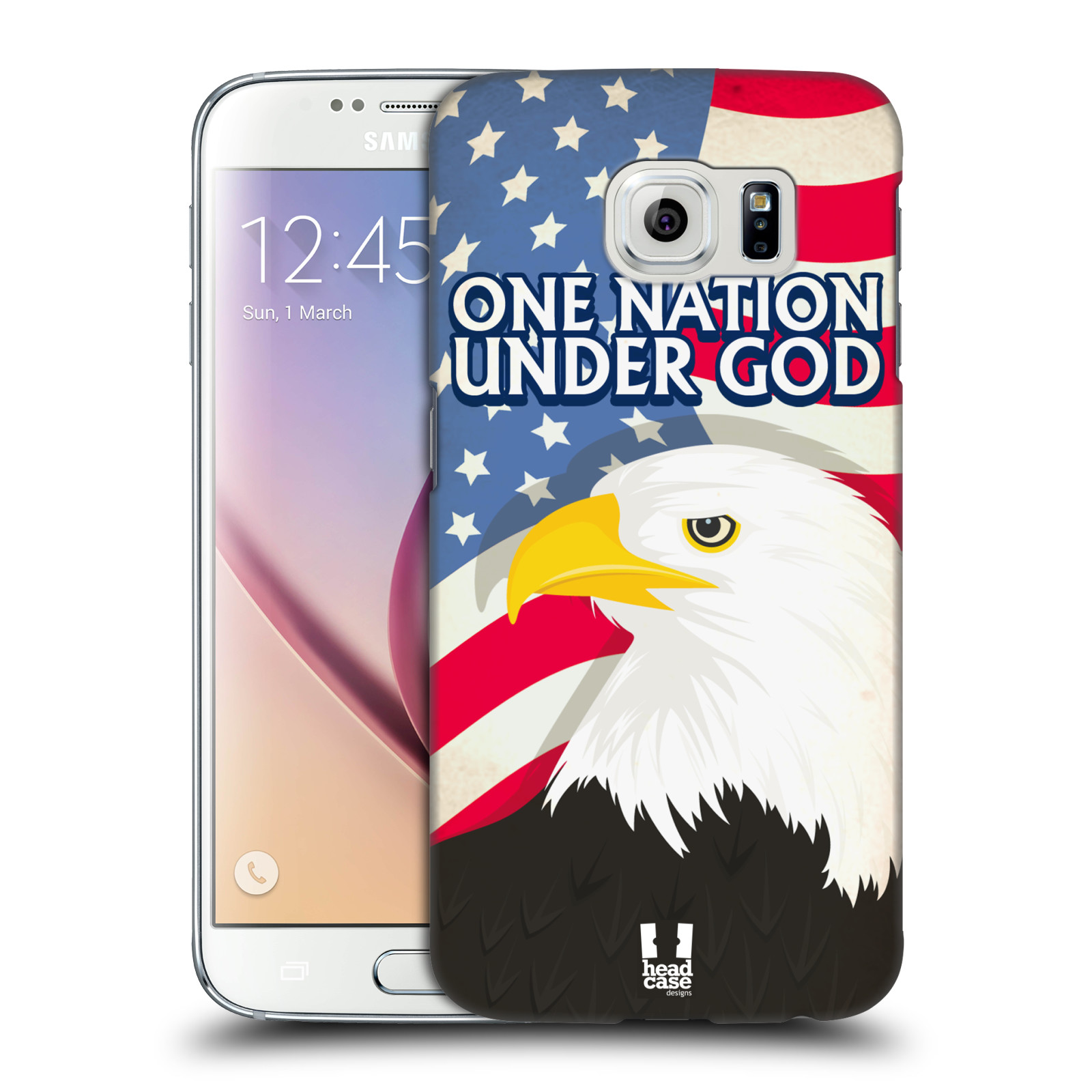HEAD CASE plastový obal na mobil SAMSUNG Galaxy S6 (G9200, G920F) vzor Americká pýcha OREL