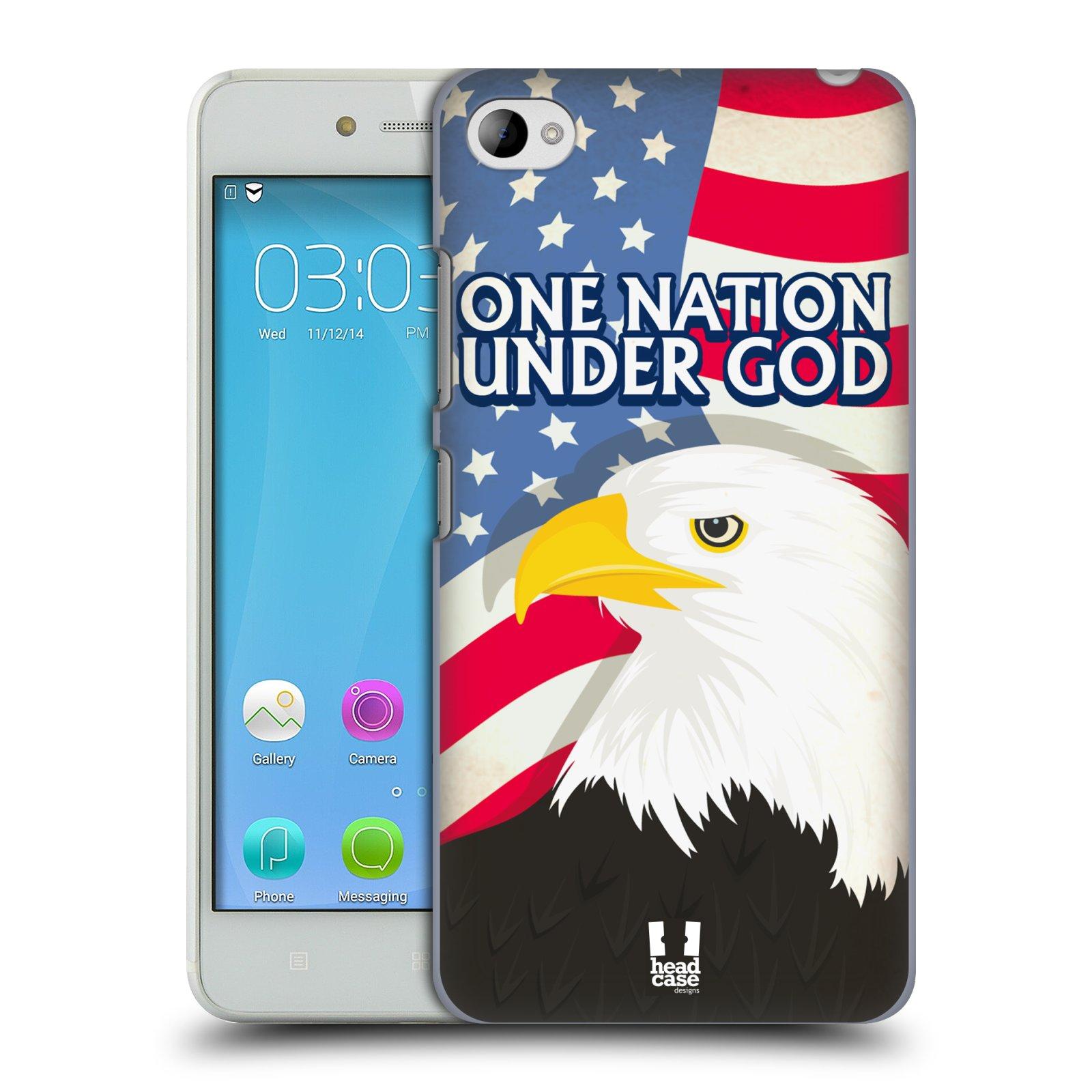 HEAD CASE pevný plastový obal na mobil LENOVO S90 vzor Americká pýcha OREL