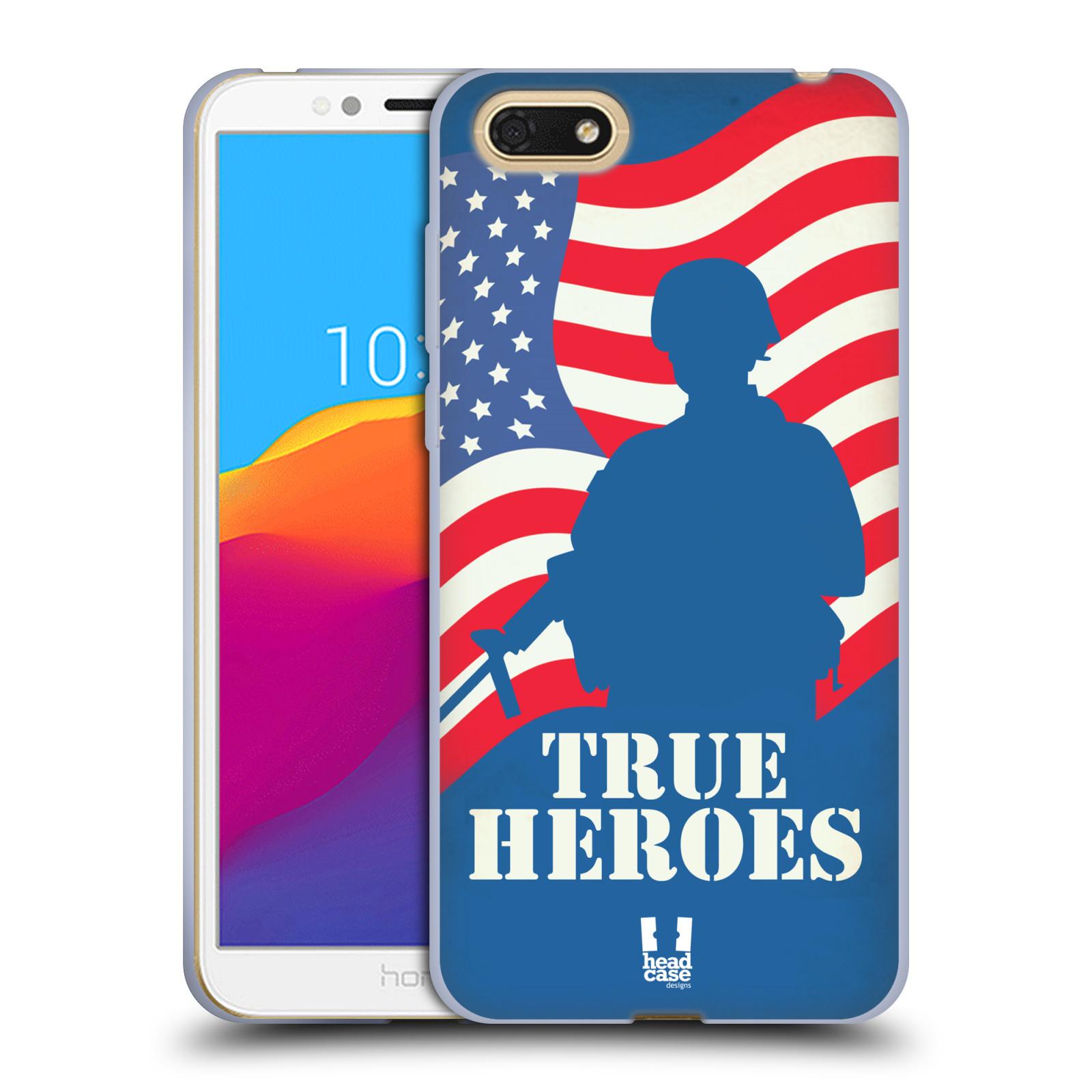 HEAD CASE silikonový obal na mobil Honor 7S vzor Americká pýcha HRDINA