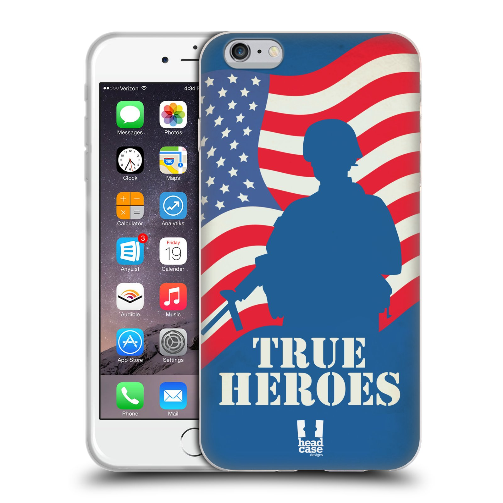 HEAD CASE silikonový obal na mobil Apple Iphone 6 PLUS/ 6S PLUS vzor Americká pýcha HRDINA