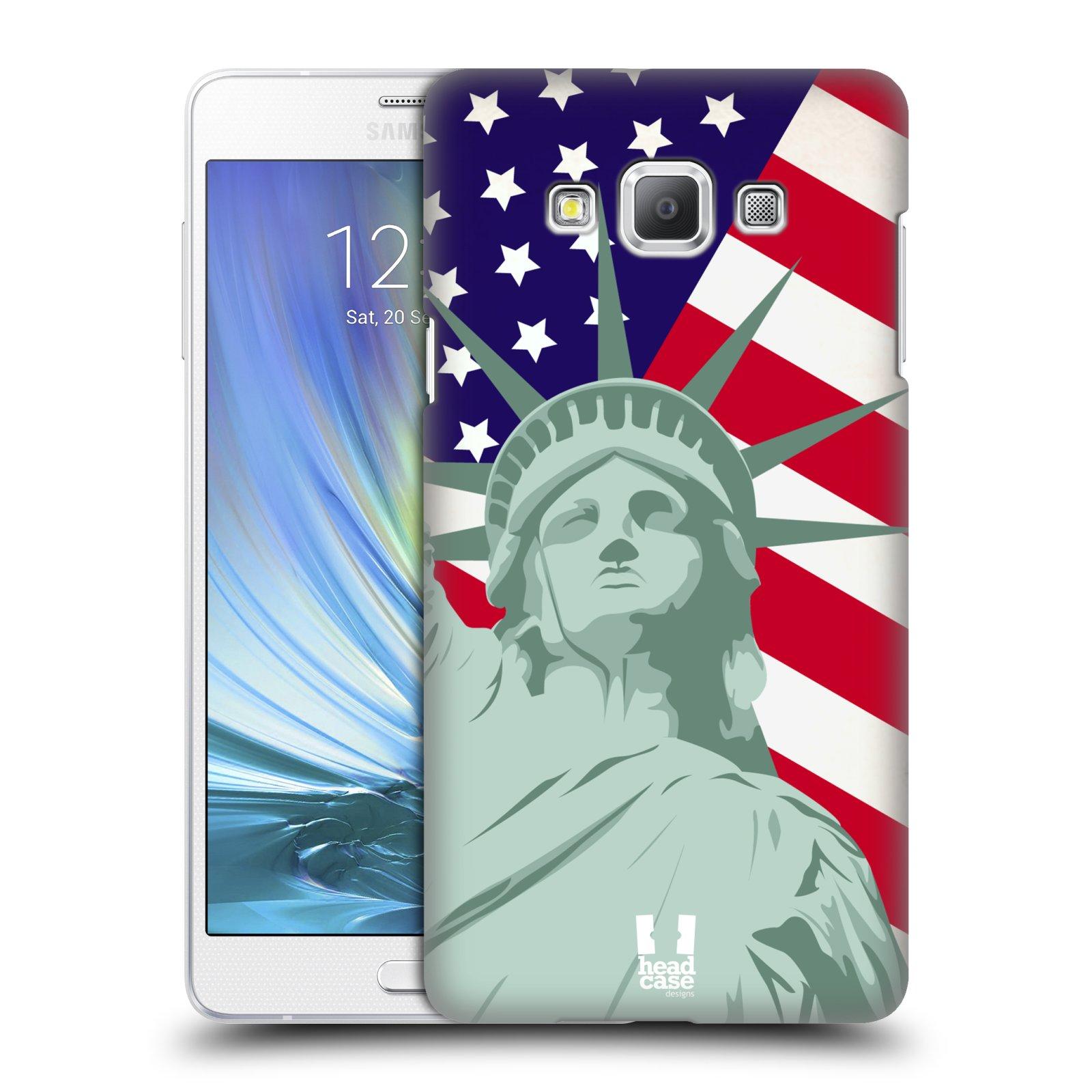 HEAD CASE plastový obal na mobil SAMSUNG GALAXY A7 vzor Americká pýcha SOCHA SVOBODY