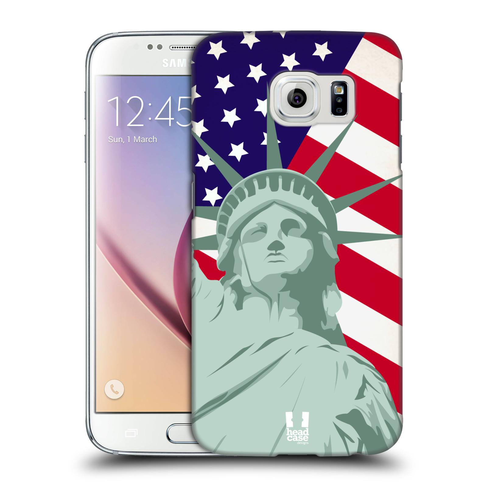 HEAD CASE plastový obal na mobil SAMSUNG Galaxy S6 (G9200, G920F) vzor Americká pýcha SOCHA SVOBODY