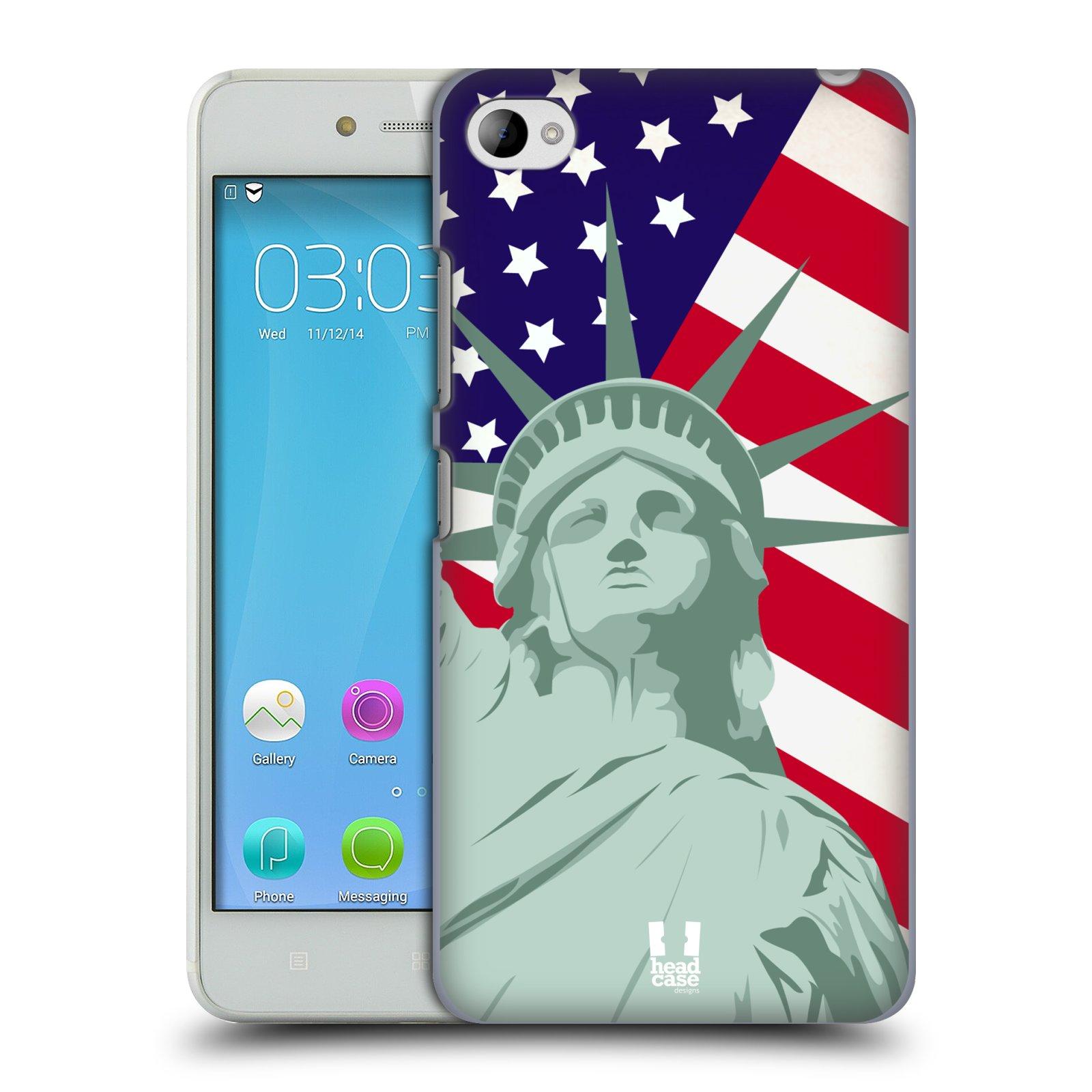 HEAD CASE pevný plastový obal na mobil LENOVO S90 vzor Americká pýcha SOCHA SVOBODY
