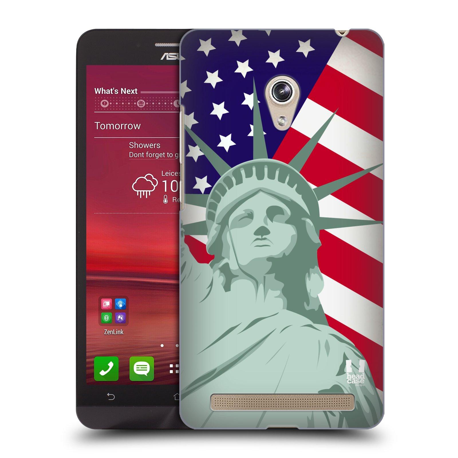 HEAD CASE plastový obal na mobil Asus Zenfone 6 vzor Americká pýcha SOCHA SVOBODY