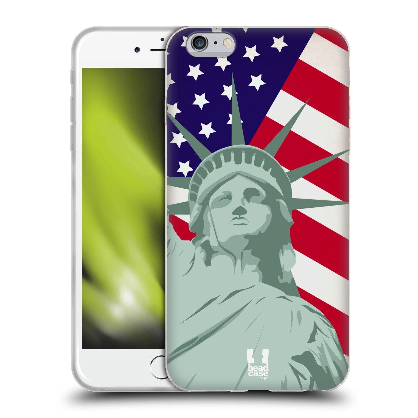 HEAD CASE silikonový obal na mobil Apple Iphone 6 PLUS/ 6S PLUS vzor Americká pýcha SOCHA SVOBODY