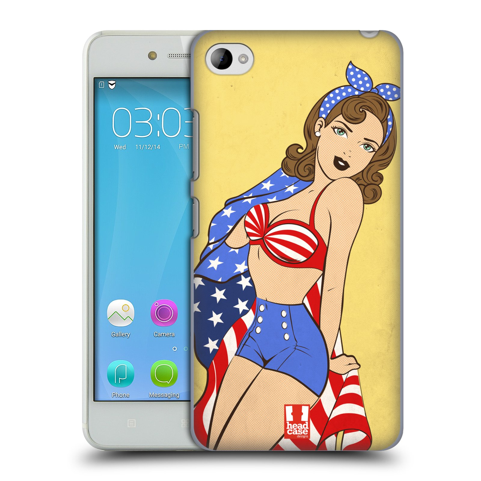 HEAD CASE pevný plastový obal na mobil LENOVO S90 vzor Americké krásky ELIZABETH