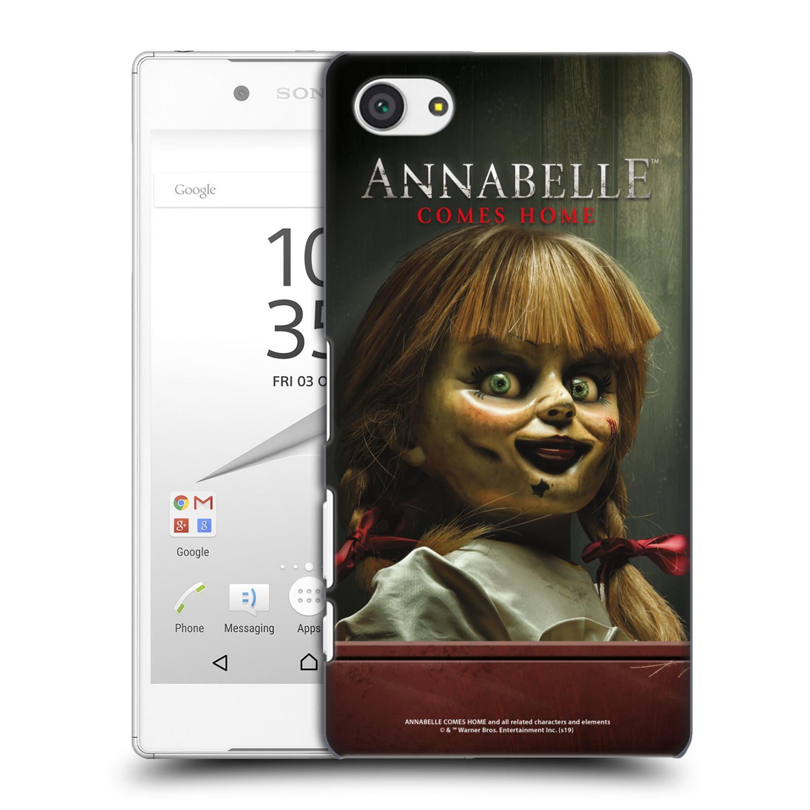 Pouzdro na mobil Sony Xperia Z5 COMPACT - HEAD CASE - Annabelle hororová panenka