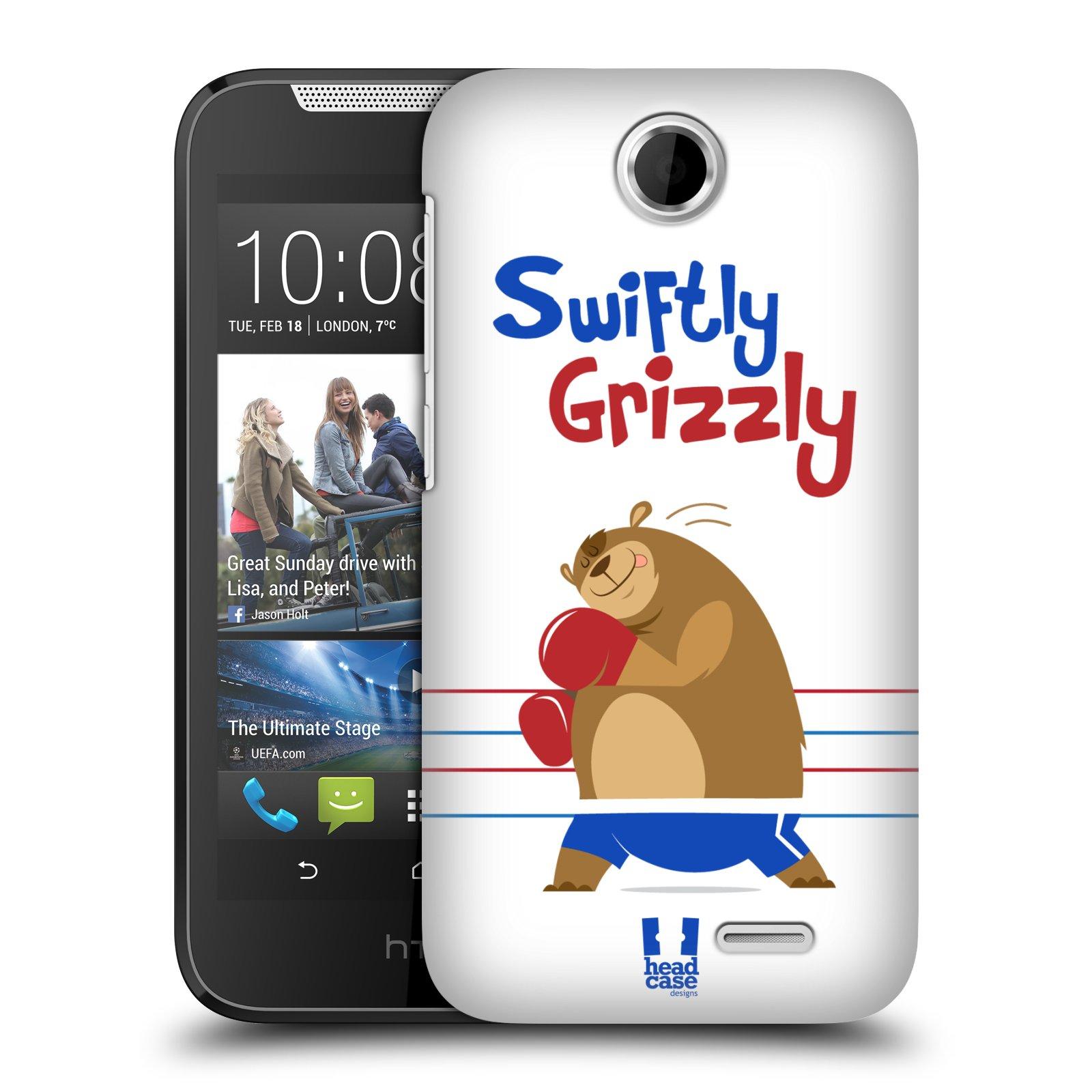 HEAD CASE plastový obal na mobil HTC Desire 310 vzor Zvířátka atleti medvěd boxér